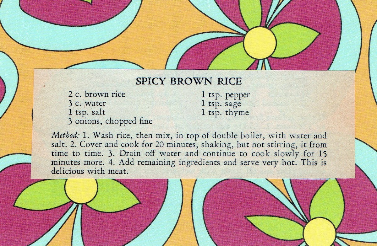 Spicy Brown Rice (quick recipe)