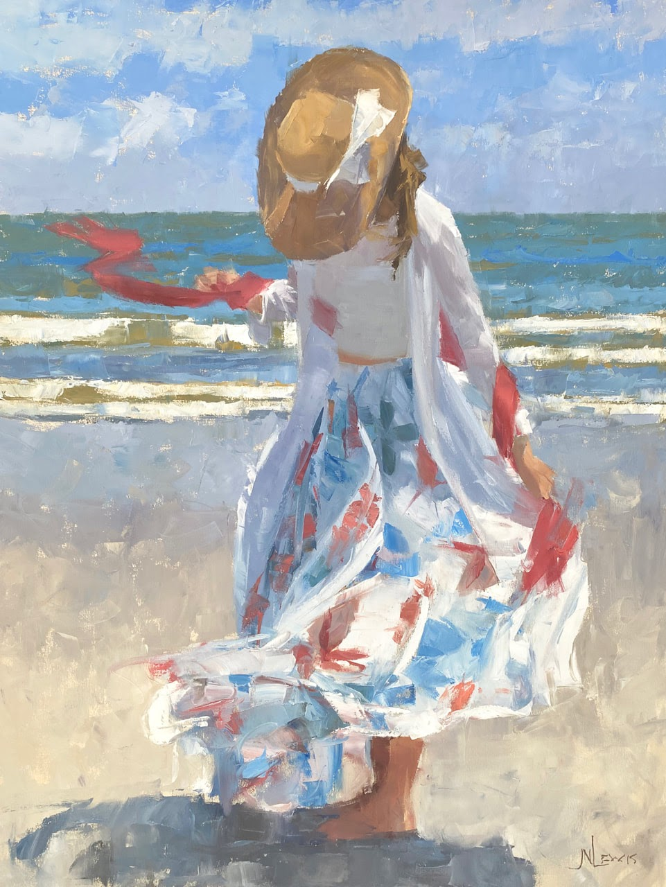 James Nelson Lewis Red white and blue