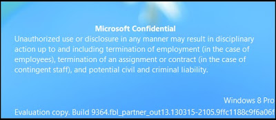 Cara Menghapus Watermark Microsoft Confidential pada Windows Blue