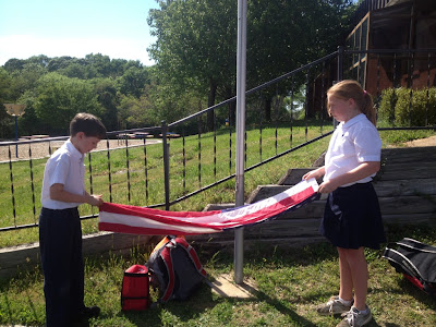 Montgomery Catholic Students End Each Day with Respect for the Flag 1