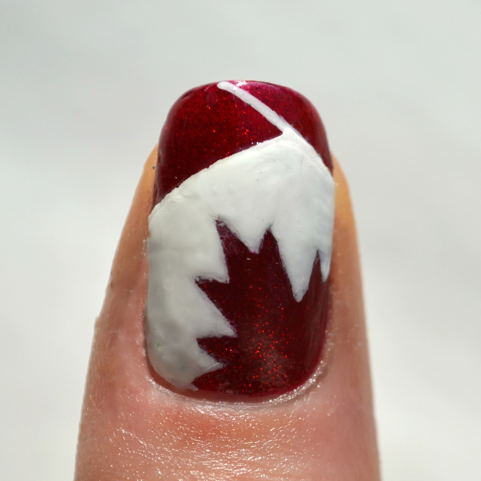 Starfish On The Beach 31 Day Nail Art Challenge Day 28 Flag
