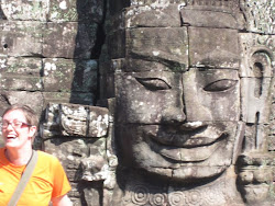 The biggest smiles at the Bayon temple