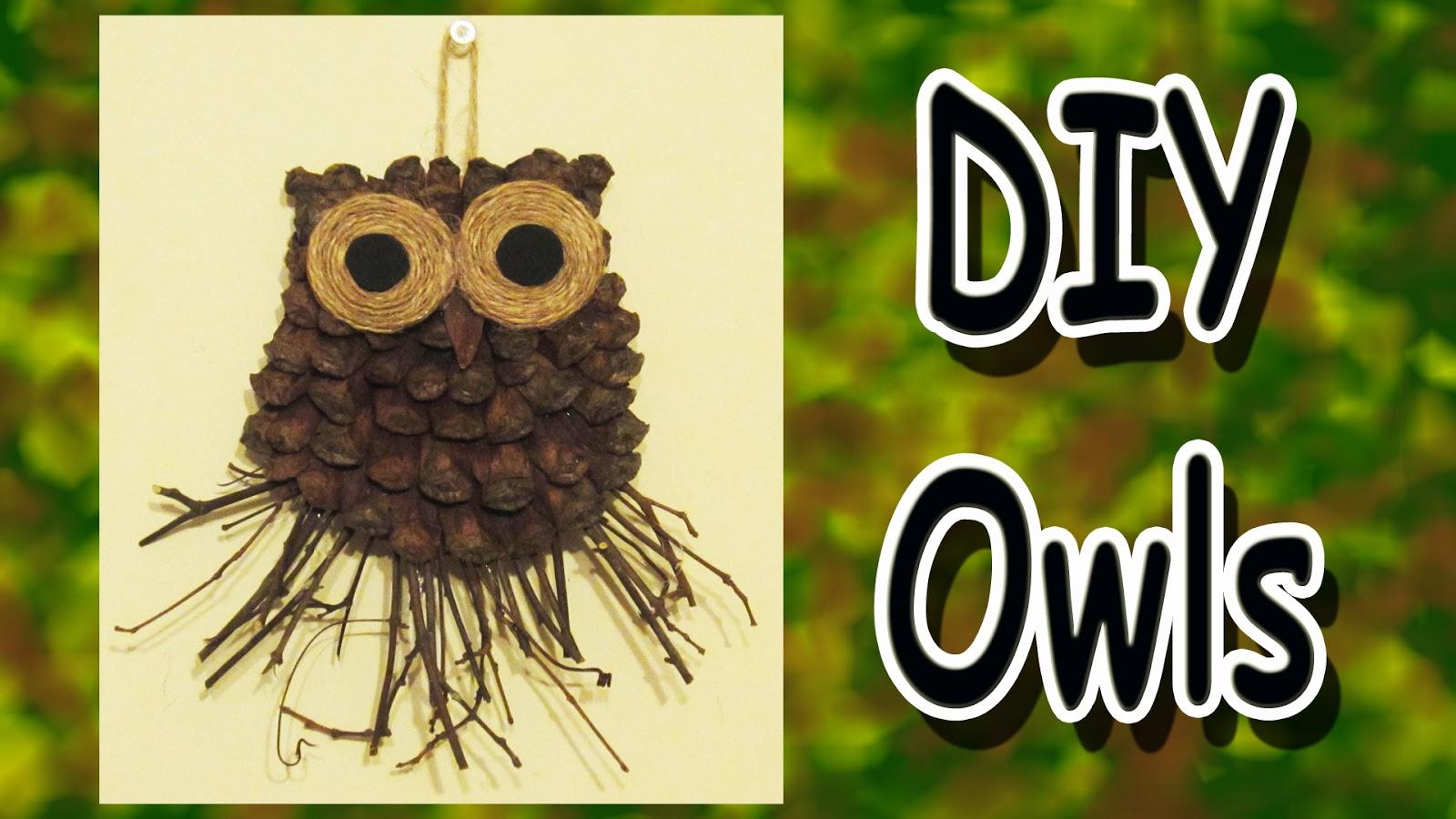 easymeworld diy owl decorations a gift idea