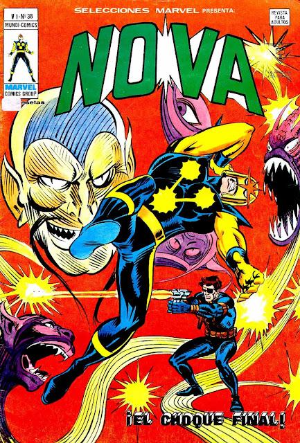 Portada de Nova-Selecciones Marvel Volumen 1 Nº 38 Ediciones Vértice