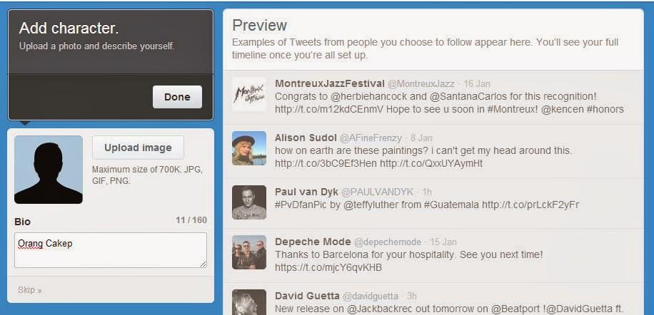 Cara Membuat Twitter dan Daftar Twitter gambar 7