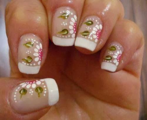 Uñas Decoradas con Flores, parte 1