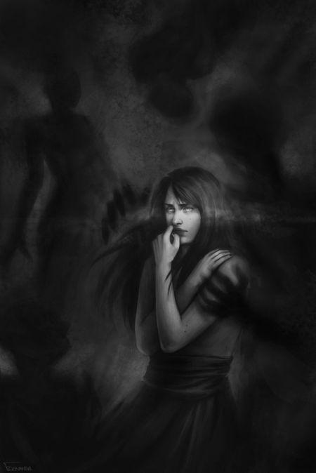 fernanda suarez ilustrações fantasia mulheres Sombras