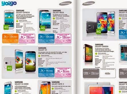 Precios de todos los móviles Yoigo en abril 2014