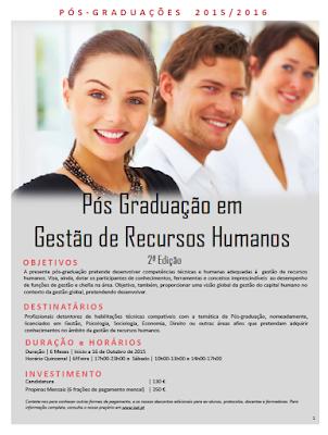 Cursos de pos graduacao em gestao de recursos humanos