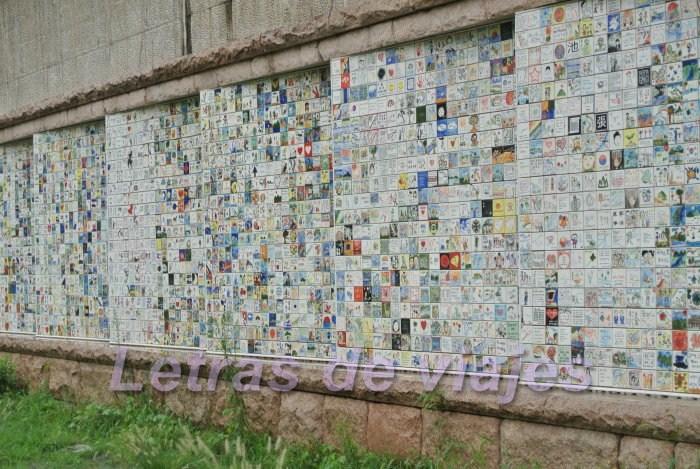 Letras de viajes corea del sur se l arroyo cheonggyecheon for El mundo de los azulejos