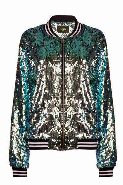 Jaded London Mermaid Sequin Bomber