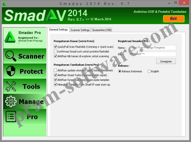 ScreenShot SmadAV Pro Rev. 9.7 Full Version Update Terbaru 2014