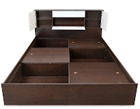 Buy Nilkamal Prince Engineered Wood Queen Bed With Storage at Online Lowest Best Price Offer Rs. 11,815 : BuyToEarn
