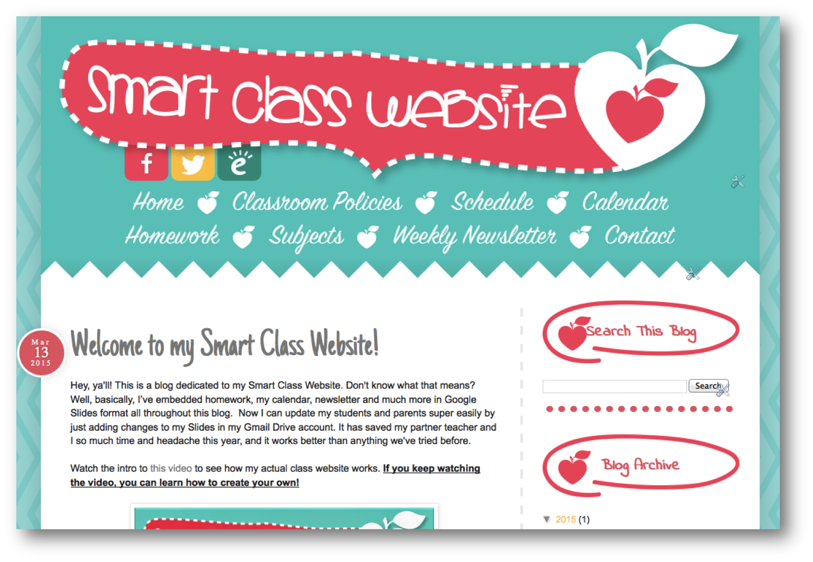 My Smart Class Website