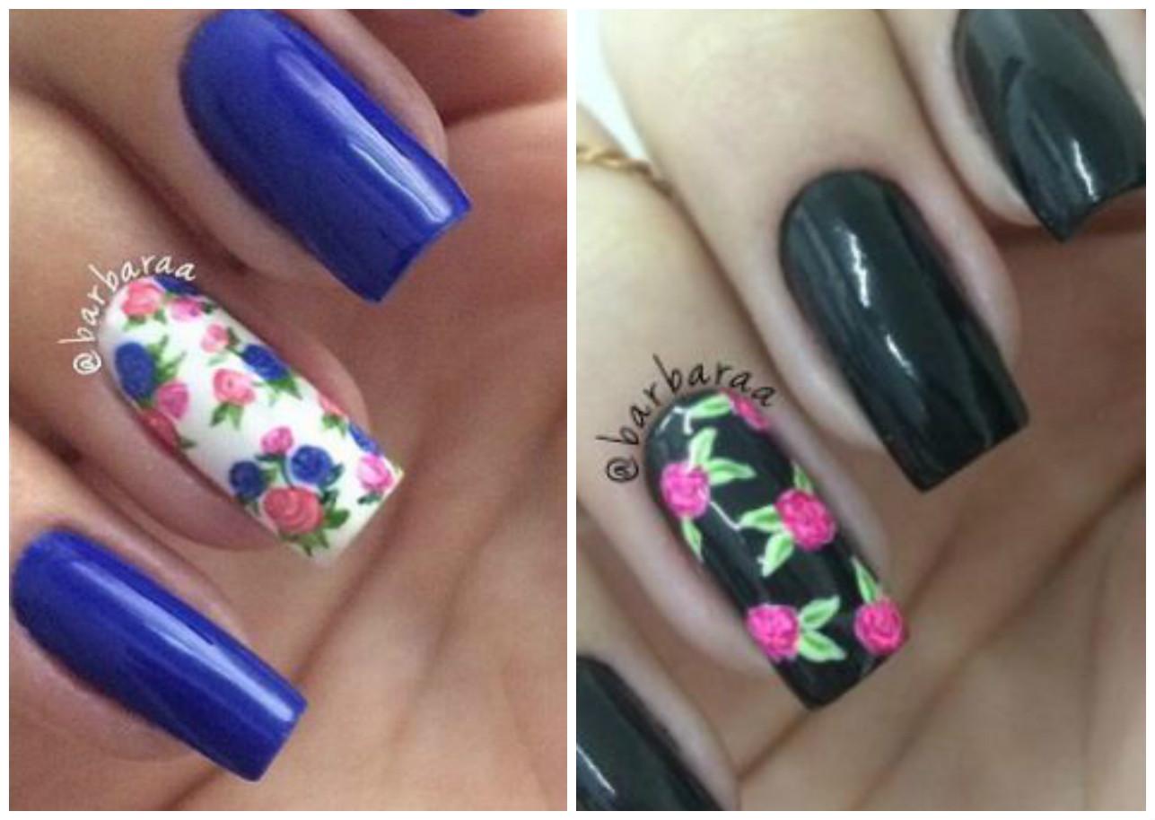 Cómo hacer diseño de rosas en las uñas paso a paso ~ Belleza y Peinados