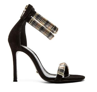 Schutz black high heeled sandals