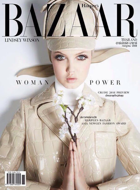 Fashion Model @ Lindsey Wixson - Harper's Bazaar Thailand, August 2015