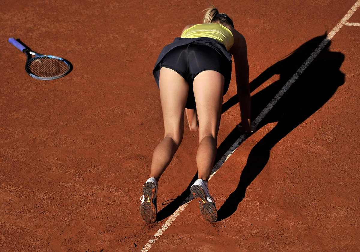 Maria Sharapova Sexy Ass Falls During Tennis Match 05 Sexy Tennis Girls Hot Pictures
