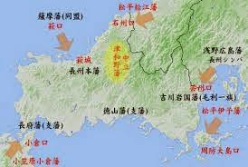 長州藩地図