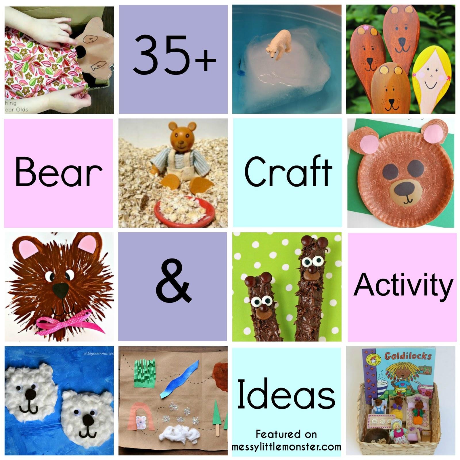 35 bear theme crafts u0026 activities messy little monster