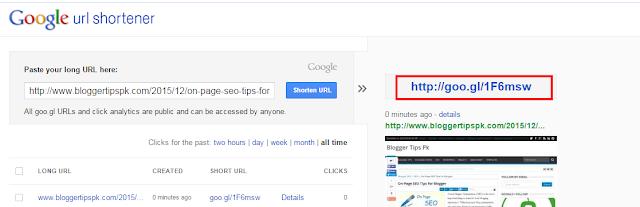 How to Create Short URLs For Your Blog Using Google Shortener