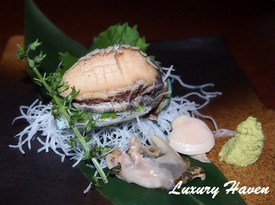 caretta shiodome hokkaido japanese restaurant abalone sashimi