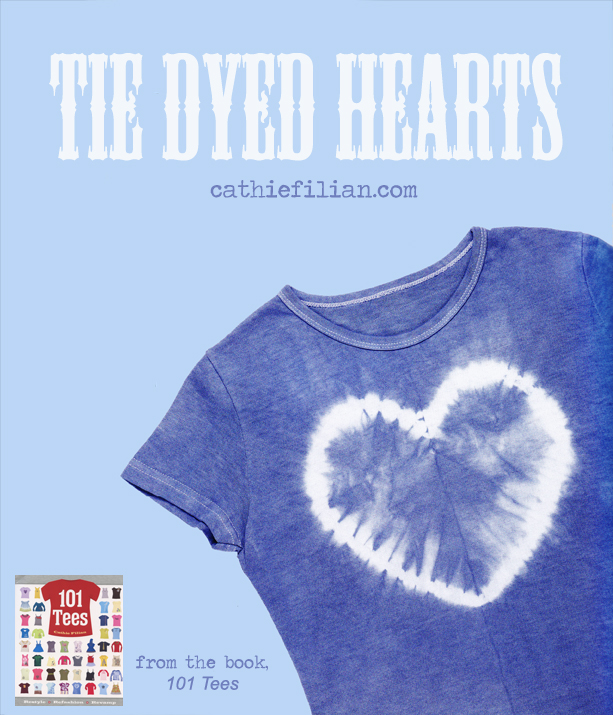 Cathie Filian How To Tie Dye Hearts From 101 Tees
