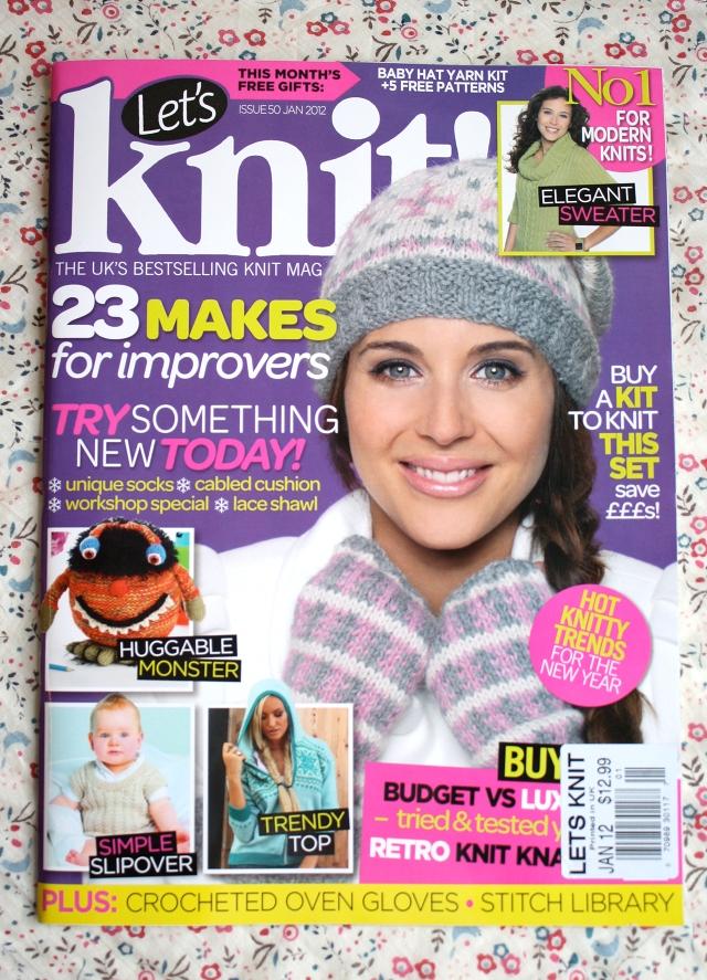 Knitting Magazine : one sheepish girl: Blog Mention in Lets Knit Magazine!