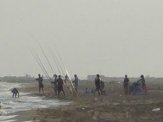 El Serrallo beach fishermen - Tarragona - Spain