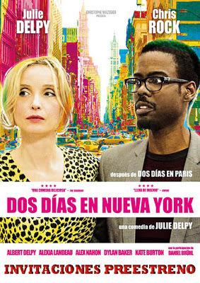 Invitaciones preestreno de cine de 2 DÍAS EN NUEVA YORK en Barcelona y Madrid