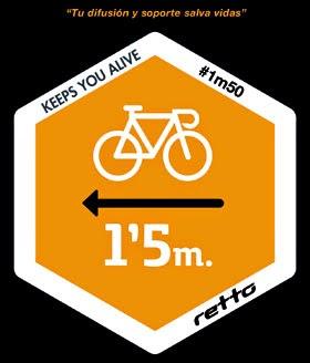 1m50  respecte al ciclista