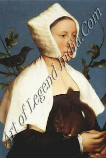 "The Great Artist Hans Holbein Painting ""Unknown Lady with a Squirrel"" c. 1526-28 17 ¼"" X 15"" National Gallery, London"