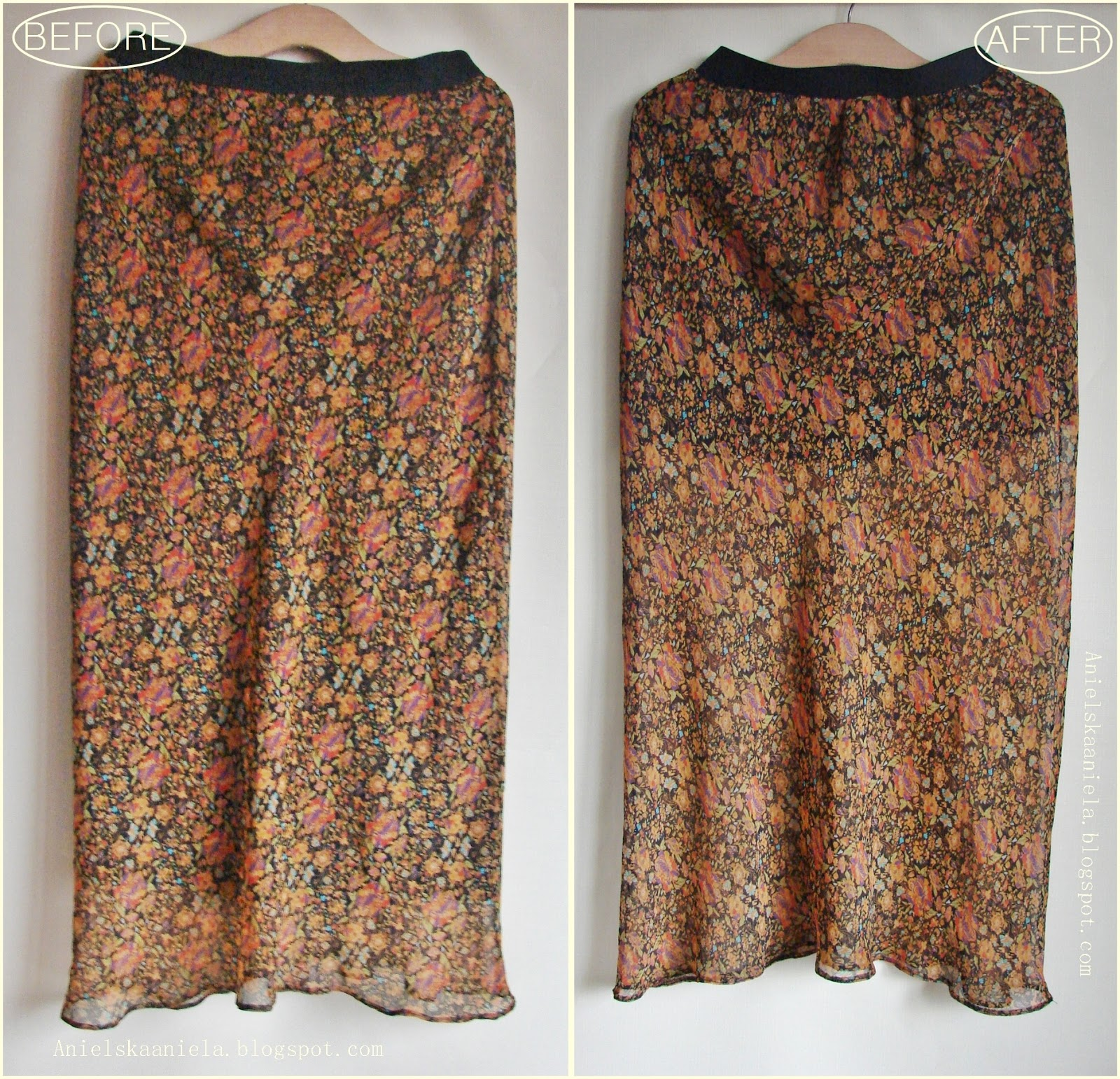 refashion co op diy maxi sheer skirt