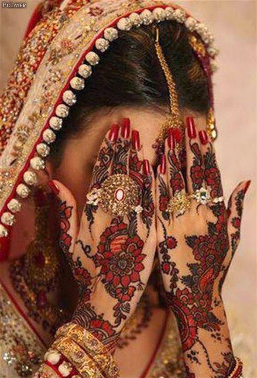 Mehndi Bridal Latest Design : Beautiful latest simple arabic pakistani indian bridal