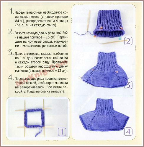 Как вязать манишку спицами для женщин схемы