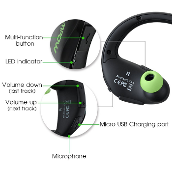 Top Bluetooth Earbuds - Mpow Cheetah Bluetooth in-ear headphones