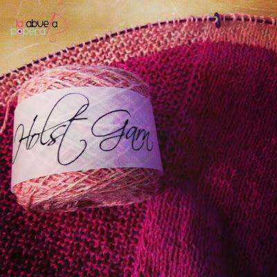 detalle de textura y lana Holst