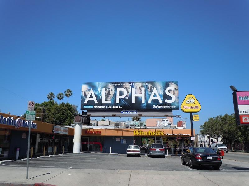 Alphas Syfy TV billboard