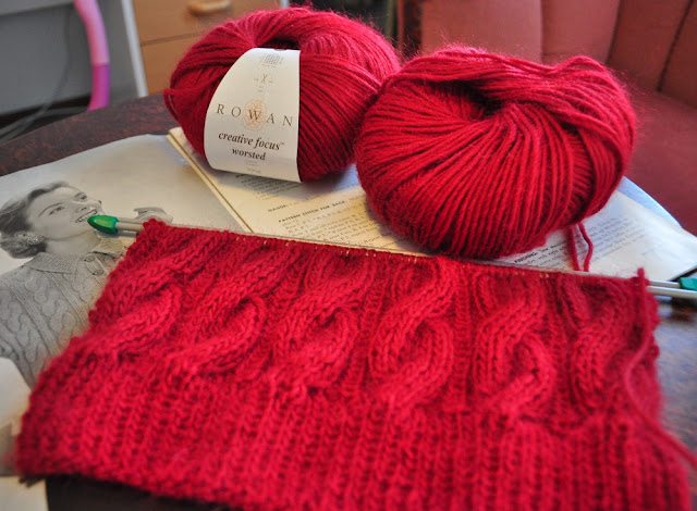 Knitting work in progress