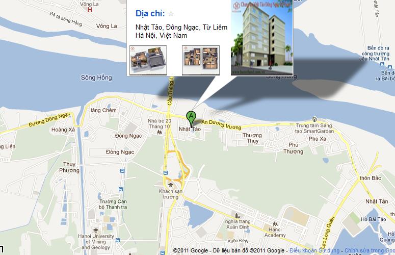 Bản đồ vị trí chung cư mini Nhật Tảo 2 Từ Liêm sẽ giúp khách hàng tìm đến khu chung cư mini Nhật Tảo dễ dàng hơn