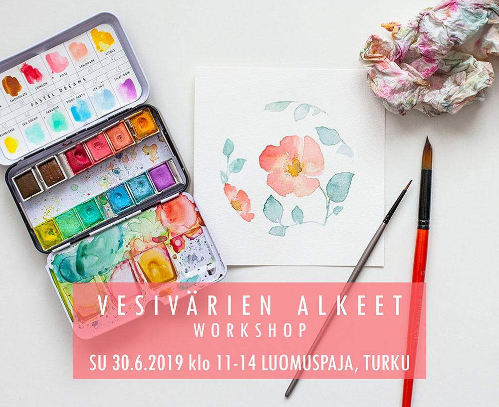 Vesivärien alkeet / Turku