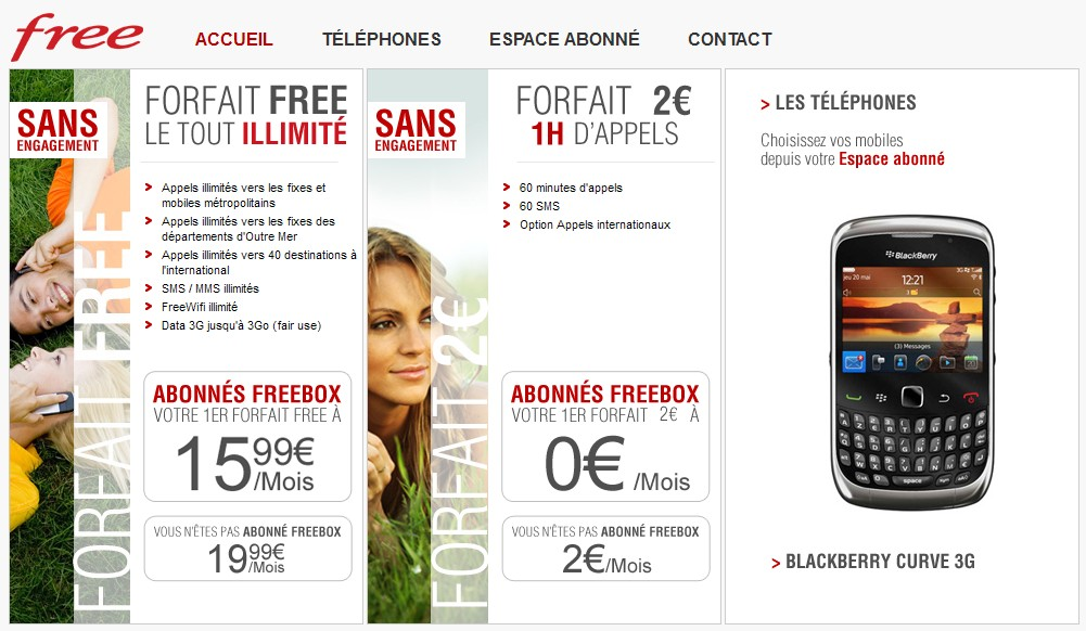 Free Mobile : les forfaits Free Mobile