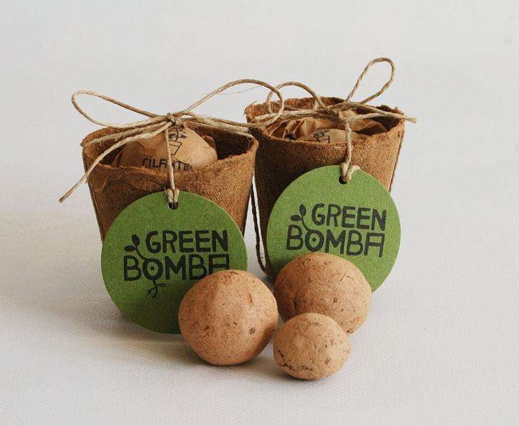 detalles de boda: bolas de arcilla con semillas | regalos ecológicos