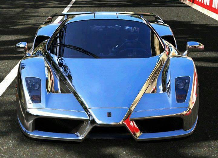 Photo Chrome Ferrari Enzo