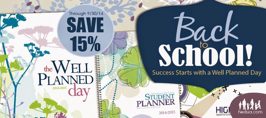 15% off planners!
