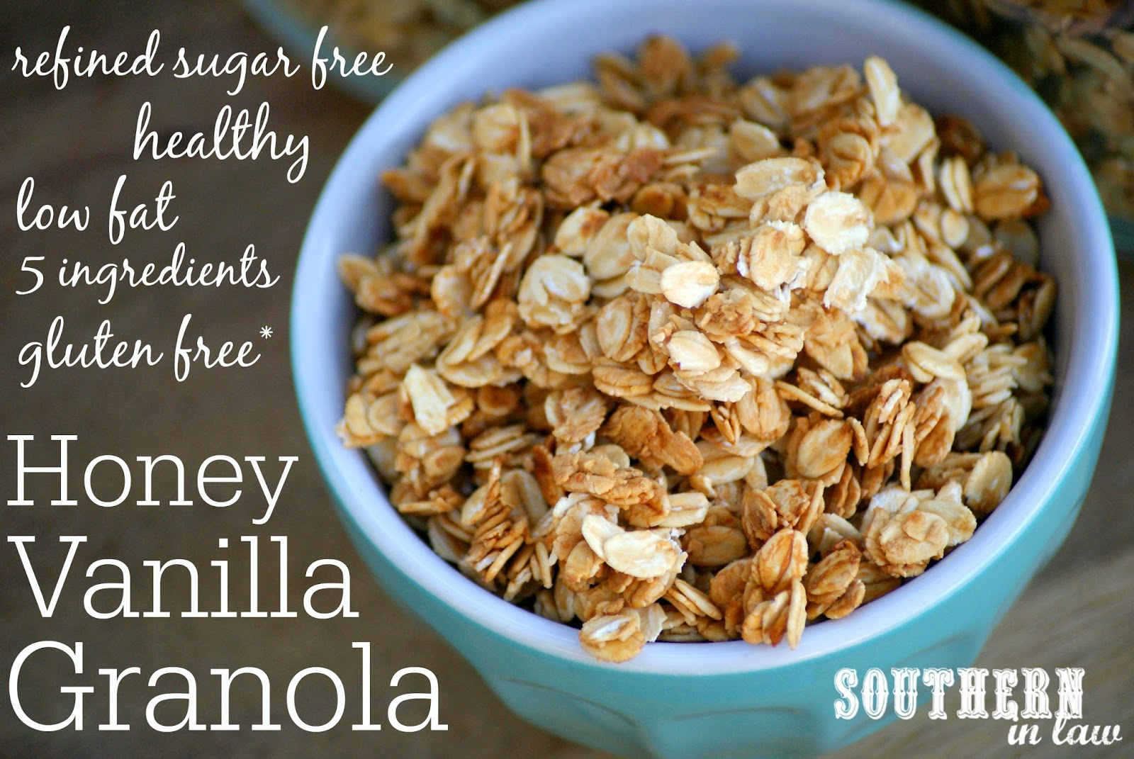 Southern in law recipe healthy homemade honey vanilla granola good granola is expensive however so this cereal killing habit can get quite expensive thats why granola was always a treat in the sil house until ccuart Choice Image