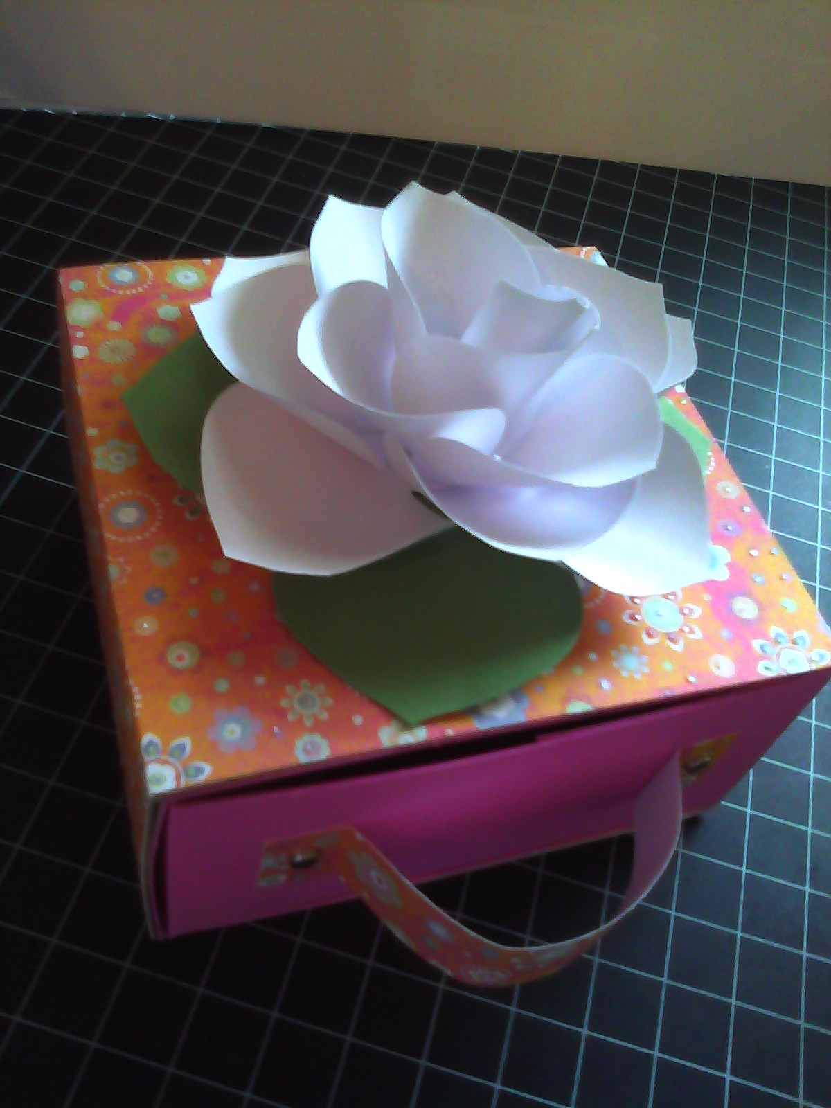 How to scrapbook a box - I Told You That I Was Going To Show You Some Cool Things You Can Make With Chipboard Recycled From Things Around Your Home This Box Was Made Out Of A