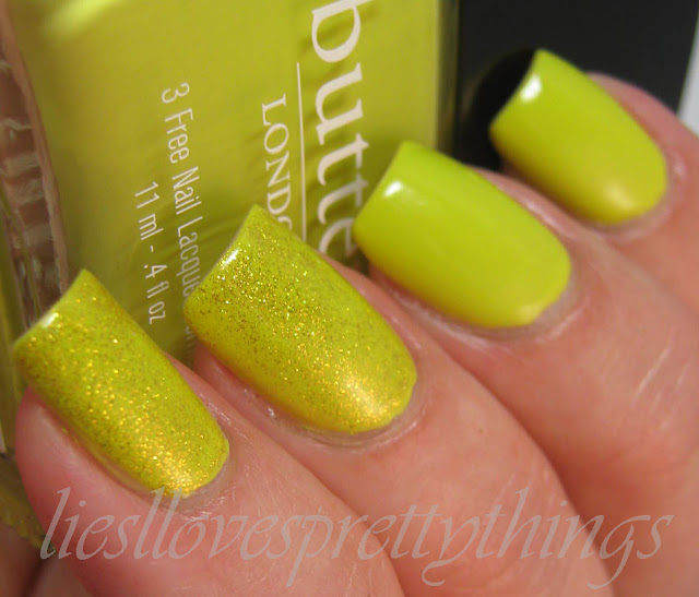 OPI OY-Another Polish Joke over Butter London Wellies