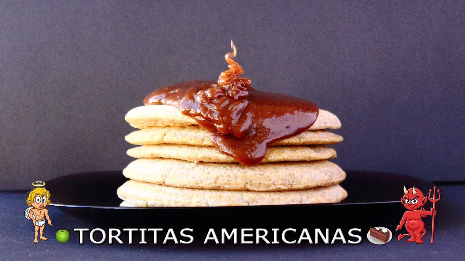 CON VIDEO. COCINA FÁCIL Y SANA. Receta saludable de esponjosas tortitas americanas (pancakes o panqueques) baja en calorías y apta para diabéticos.
