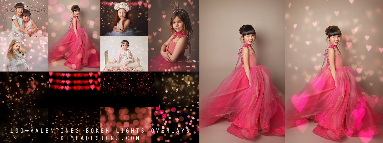 100+ Valentines Bokeh Overlays + 2 Free Gifts